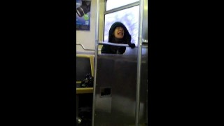 Crazy Woman on the SUBWAY! It must be drugs…………